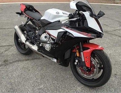 white red black Yamaha R1 2015 2016 race rails street cage