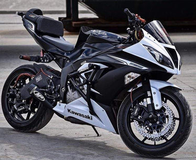 black and white zx6r kawasaki 636 with Impaktech cage