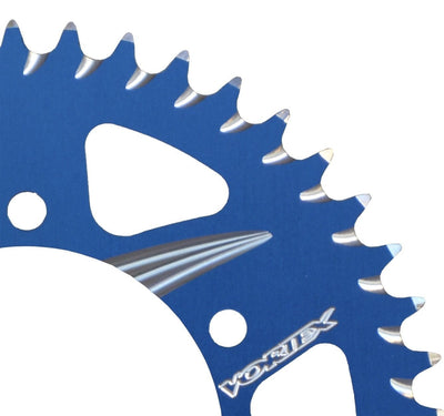 blue rear sprocket Vortex Racing complete kit