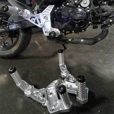 Impaktech Honda Grom Rearsets - Stunt Pegs - Front and Rear - Subcage