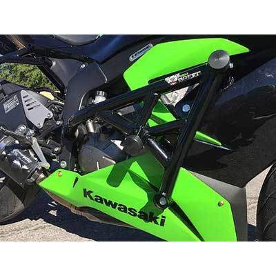 New Breed Kawasaki ZX6R 636 13-17 Stunt Cage - Dual Slider Crash Cage
