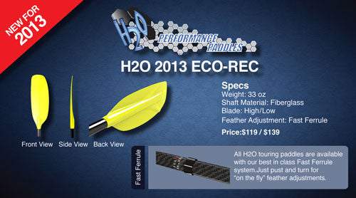 New lightweight ECO-REC paddle
