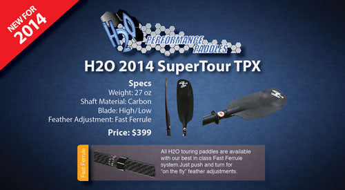 New lightweight SuperTour TPX paddle