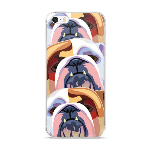 Bulldog Face iPhone 5/5s/Se, 6/6s, 6/6s Plus Case