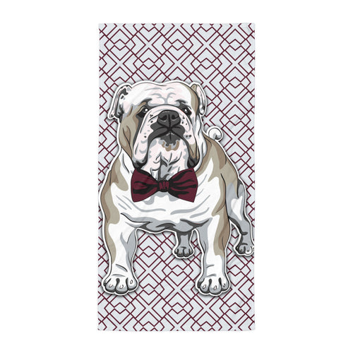 Bulldog Bowtie Beach Blanket