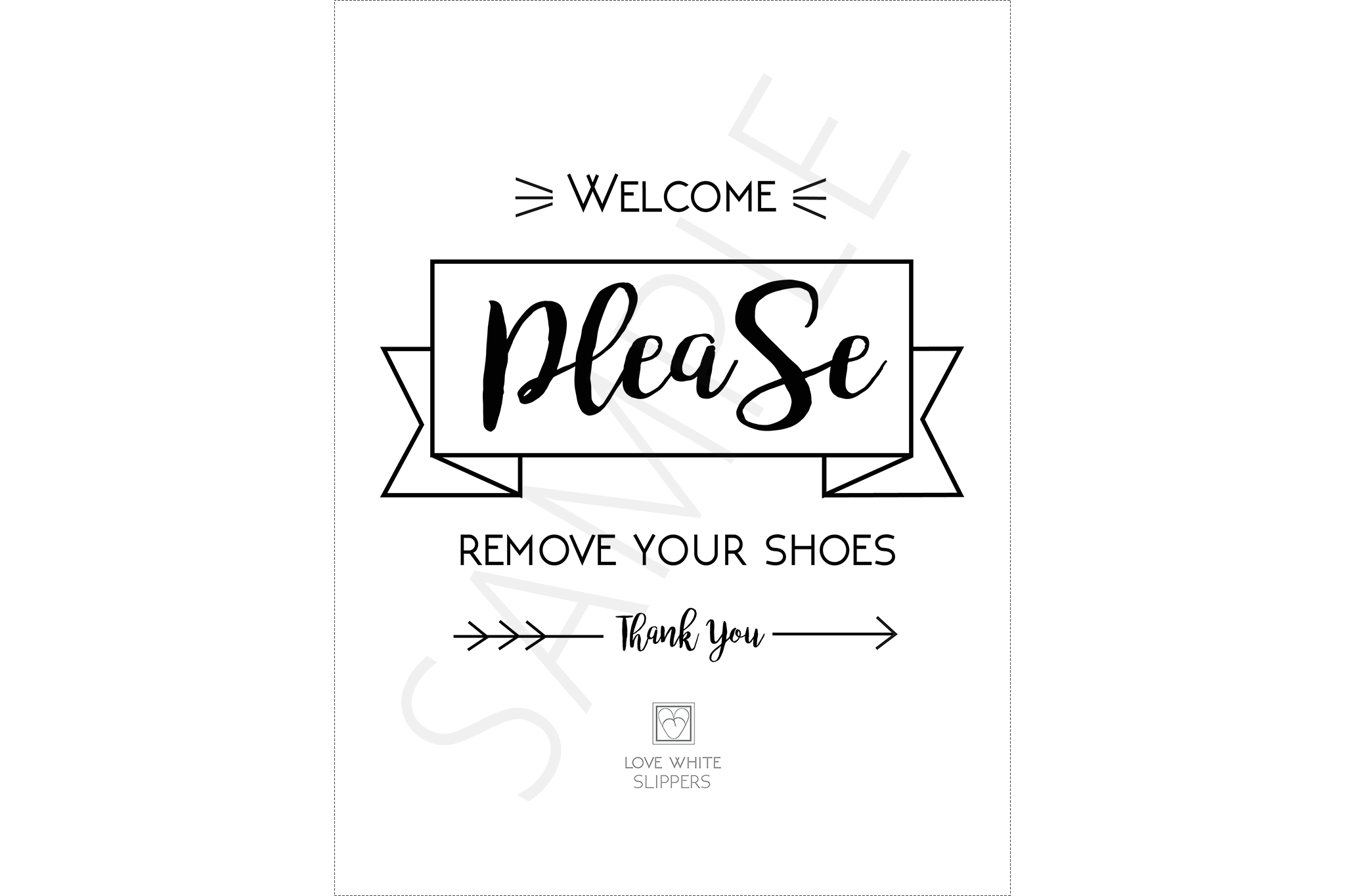 photograph regarding Please Remove Your Shoes Sign Printable identified as Welcome, Remember to Get rid of Your Sneakers