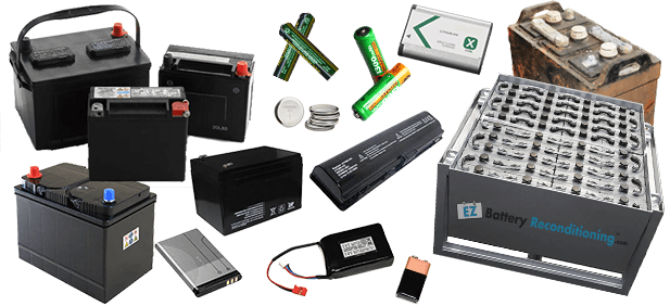 List of batteries to recondition