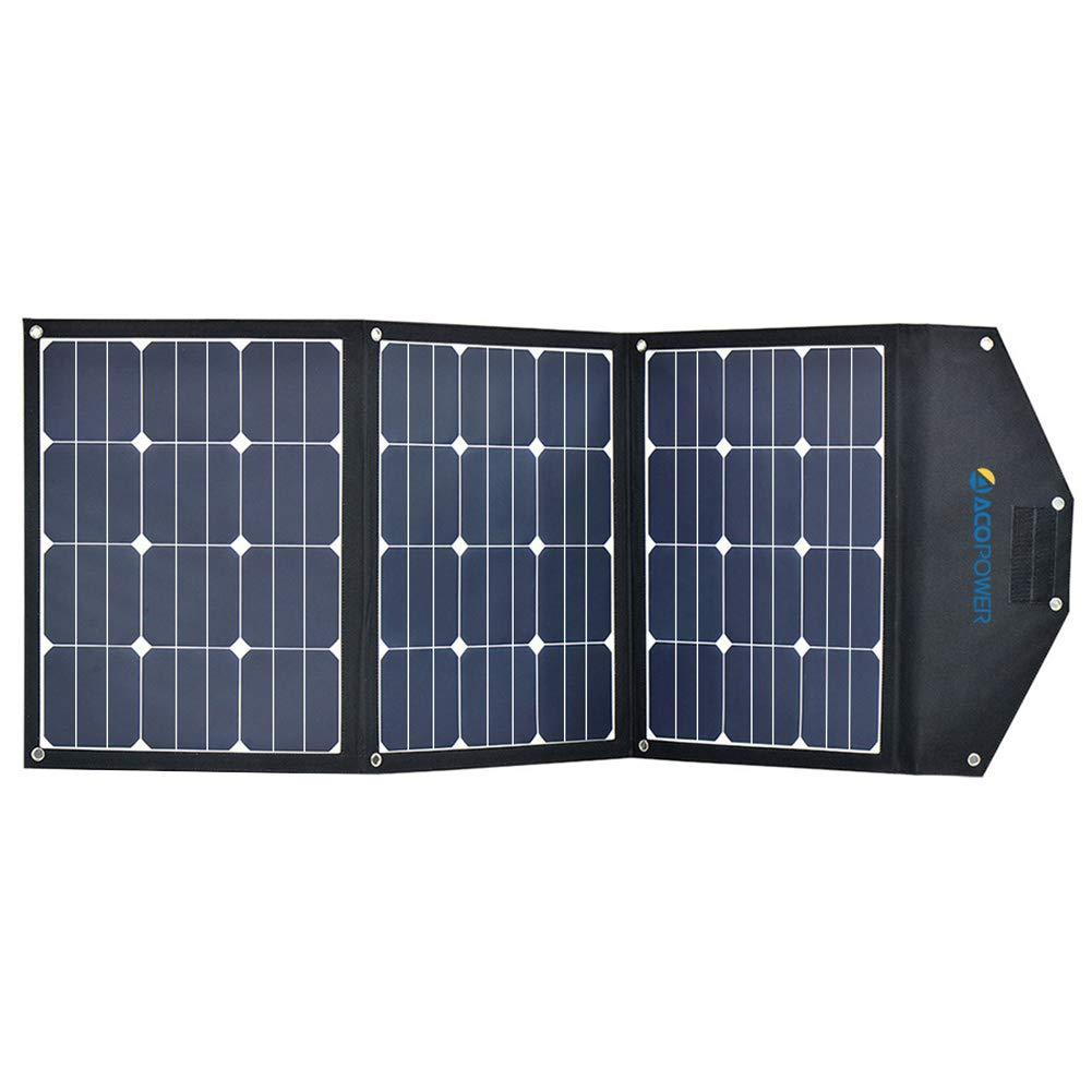 ACOPOWER 120W Foldable  Solar Suitcase, without Charge Controller