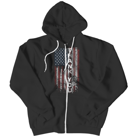 Zipper Hoodie - Limited Edition - Thank You Flag