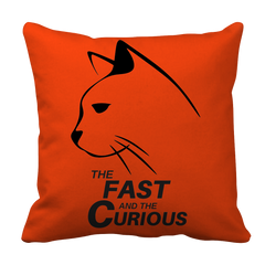 Pillow Case - Limited Edition - Black Print - Fast & Curious Pillow Case by AutoClubHero LLC