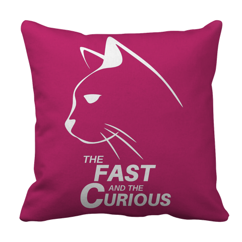 Pillow Case - Limited Edition - White Print - Fast & Curious Pillow Case by AutoClubHero LLC