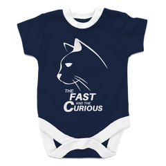 Onesie - Limited Edition - White Print Fast & Curious Kitty Onesie - Exclusive by AutoClubHero LLC
