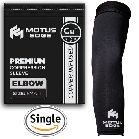 Motus Edge Copper Infused Elbow Compression Sleeve (1-pack)