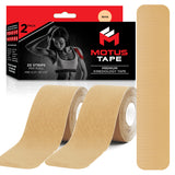Motus Tape Elastic Cotton Kinesiology Tape - Beige (2-pack)