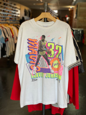 90s Magic Johnson Los Angeles Lakers NBA Basketball Tee