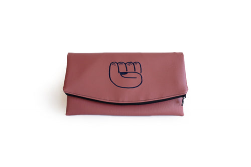 Earthy Pink Rose Revolution Clutch