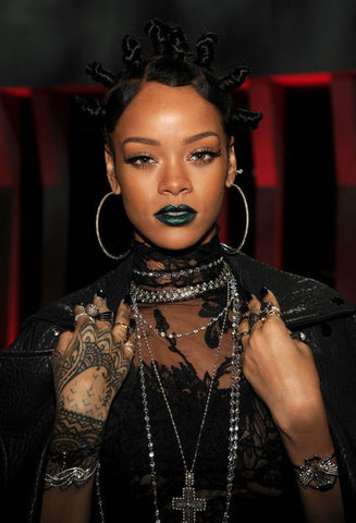 rihanna hoop earrings