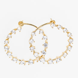 Mini Silver and Gold Hoop Earrings