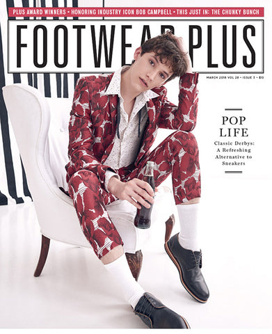 We are on Footwear Plus magazine this month!
