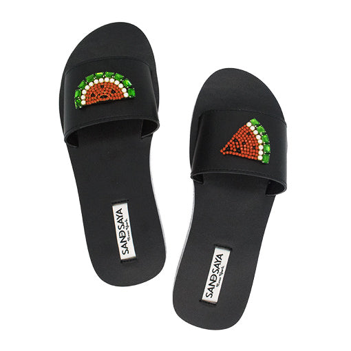 watermelon espadrille flat waterproof