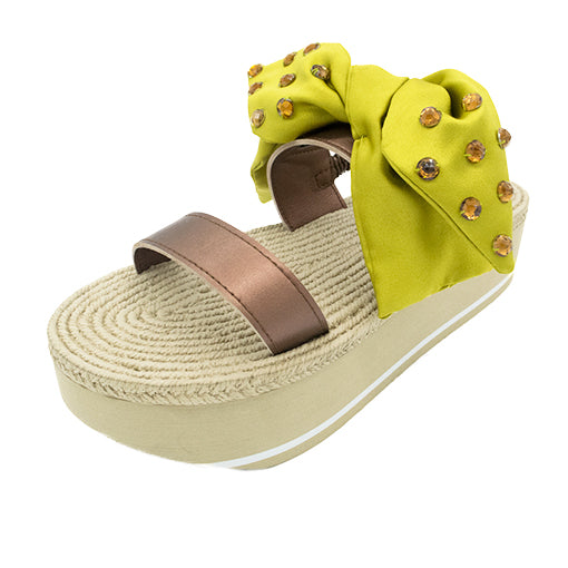 Leonard Yellow - Waterproof Espadrille Platform