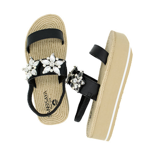 Triple Star- Waterproof Espadrille Platform