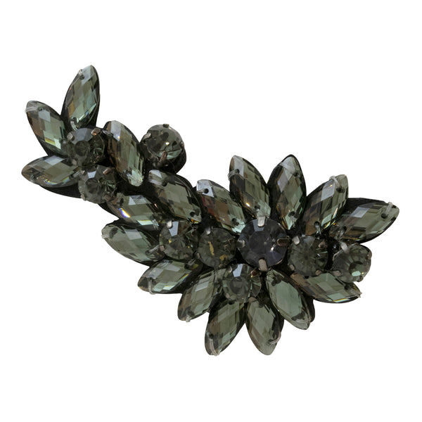 Black Manhattan Brooch with Crystals Women's Accessories