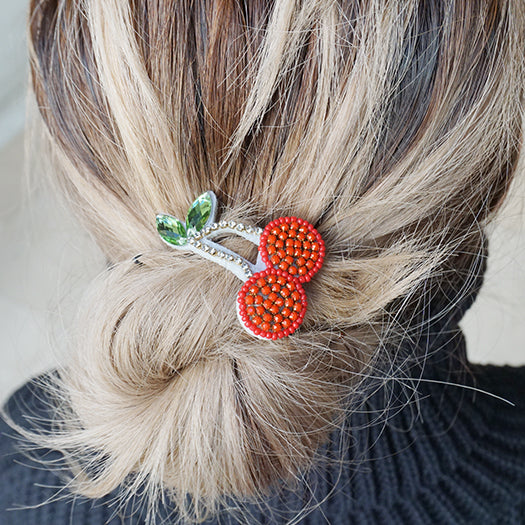 Cherry- Hair Tie