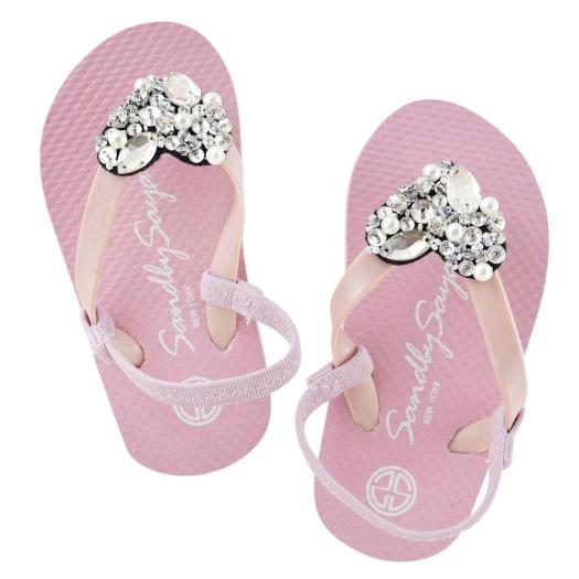 Baby Pink Kids / Baby Sandals Cute Heart Image summer handmade