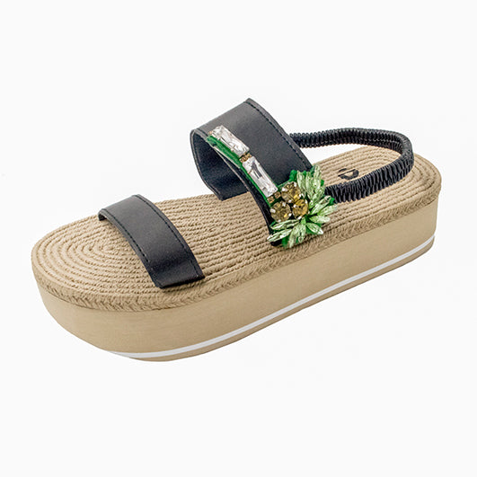 Palm Tree Espadrille Platform
