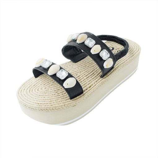 Shell Beach- Waterproof Espadrille Platform