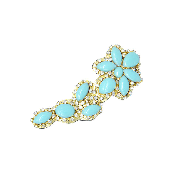 Brooklyn - , Blue Turquoise, Flower
