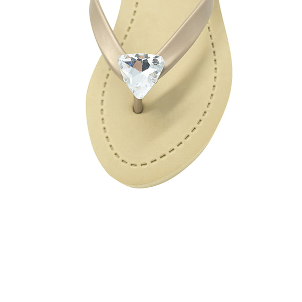 Triangle studs Mid Wedge Flip Flop