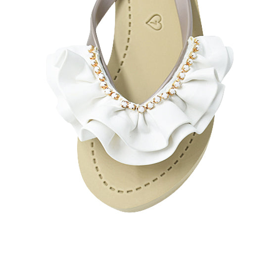Rockaway (White) - Women's Mid Wedge