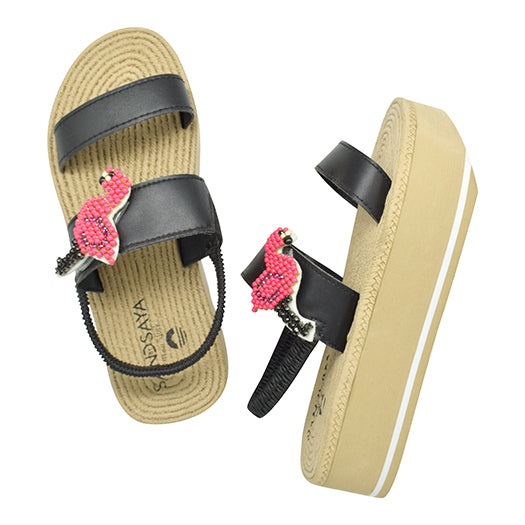 Flamingo- Waterproof Espadrille Platform