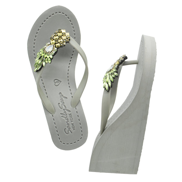 Pineapple - Women's High Wedge