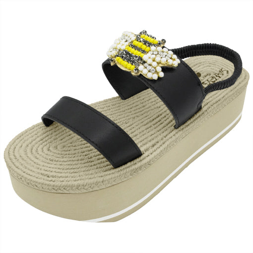 Bee- Waterproof Espadrille Platform