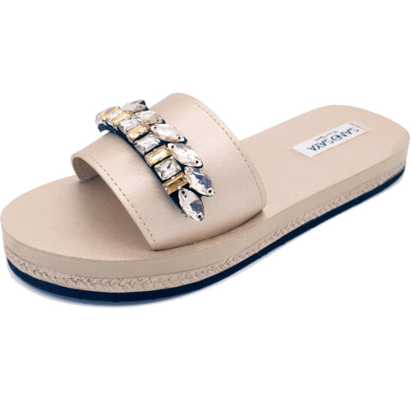 Smith - Waterproof Espadrilles Flat Sandals - Sand by Saya