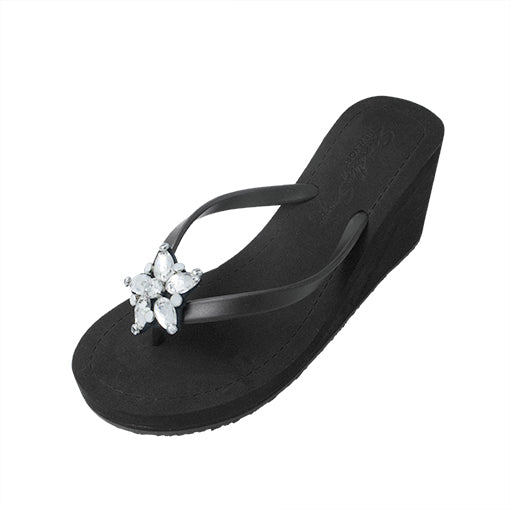 One Star High Wedge Flip Flop