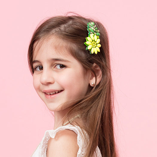 Yellow Daisy- Kids Hair Pin