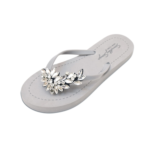 Manhattan (Crystal) - Women's Flat Sandal