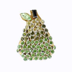 Green and gold pear
