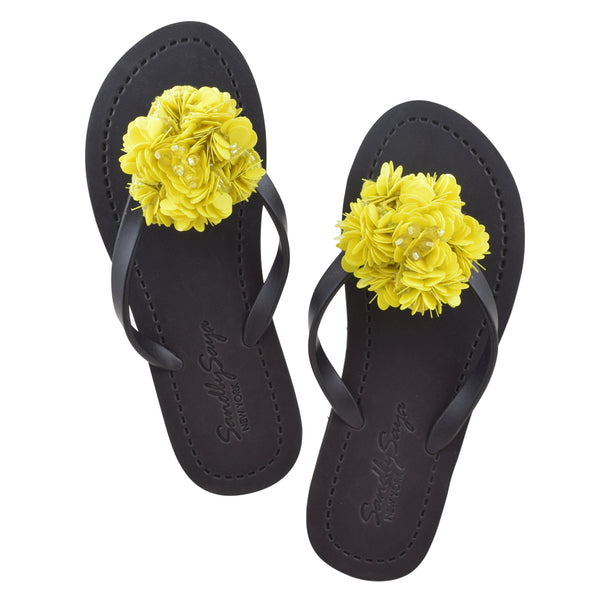 Noho (Yellow Flower) - Women's Flat Matte Sandal