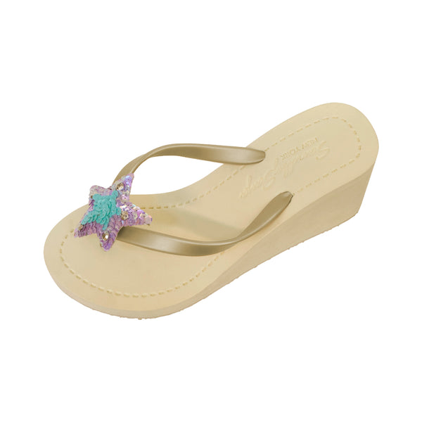 Sand by saya sandals, high wedge bridal sandals for summer
