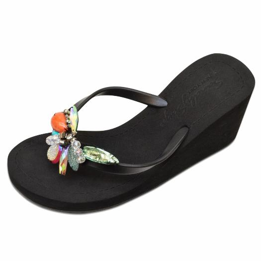 Black Women's High heels Sandals with West Village, Flip Flops summer