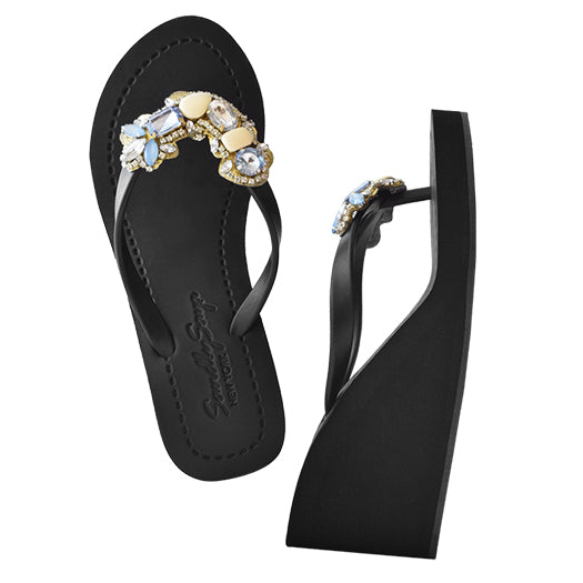 Black Women's High heels Sandals with York, Flip Flops summer