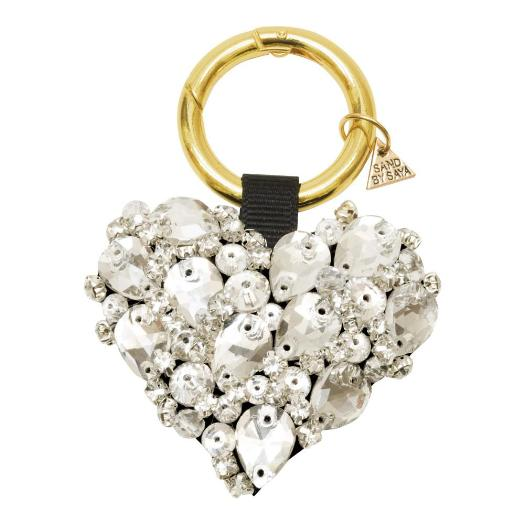 Image Crystal Heart Key Holder Keychain  Cute Gorgeous