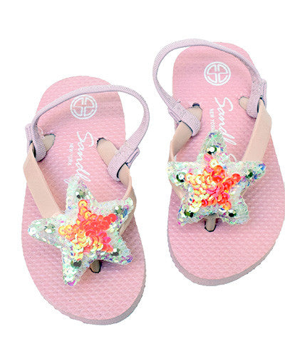Sandals, Baby, Kids, Gold, White, Star, Pink