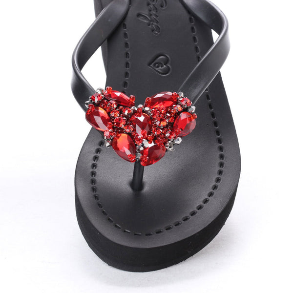 Chelsea Heart (Red) - Women's Mid Wedge