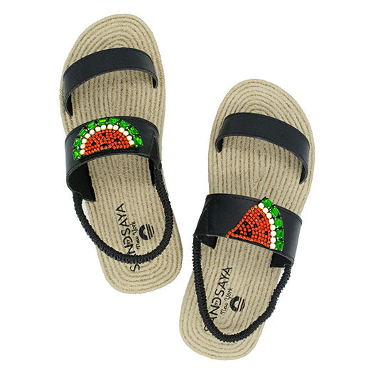 Watermelon, Platform, Espadrilles, Waterproof, Red, Black